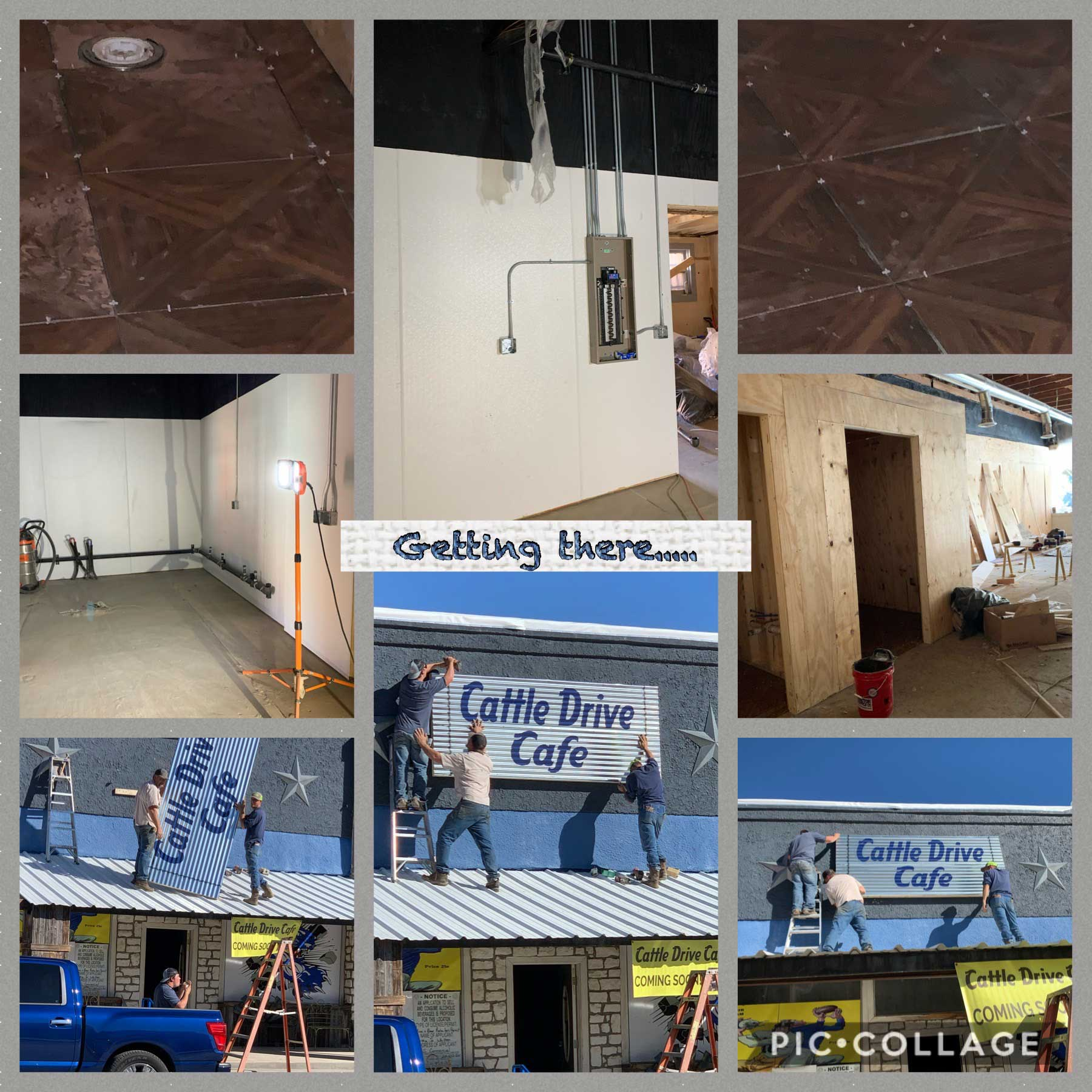 Remodeling Progress on Cattle Drive Cafe in Coleman, TX